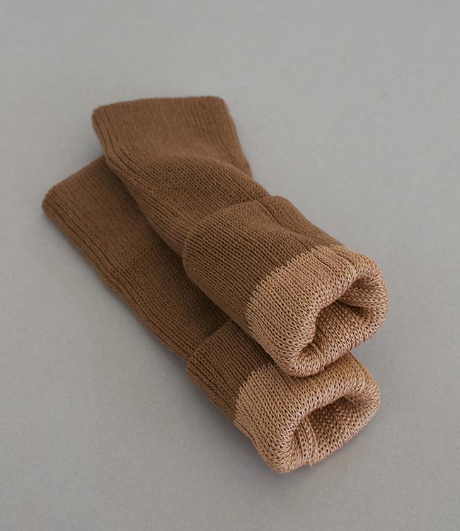 新作/ 改良版 絹ウール二層ウォーマー