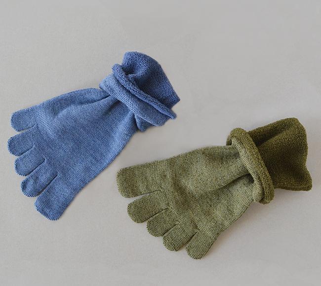 五本指「足の肌着」絹とウール