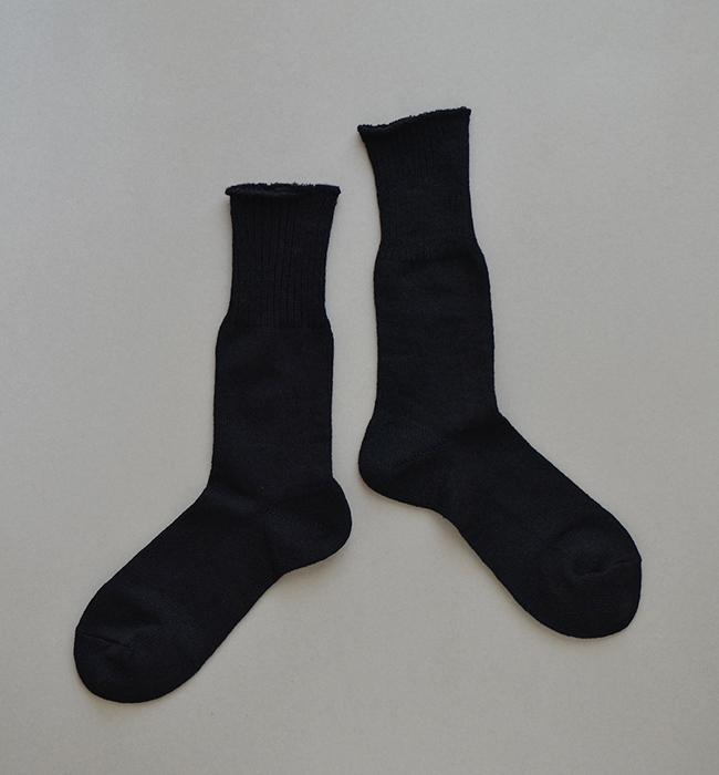 足の衣 麻 ブラック