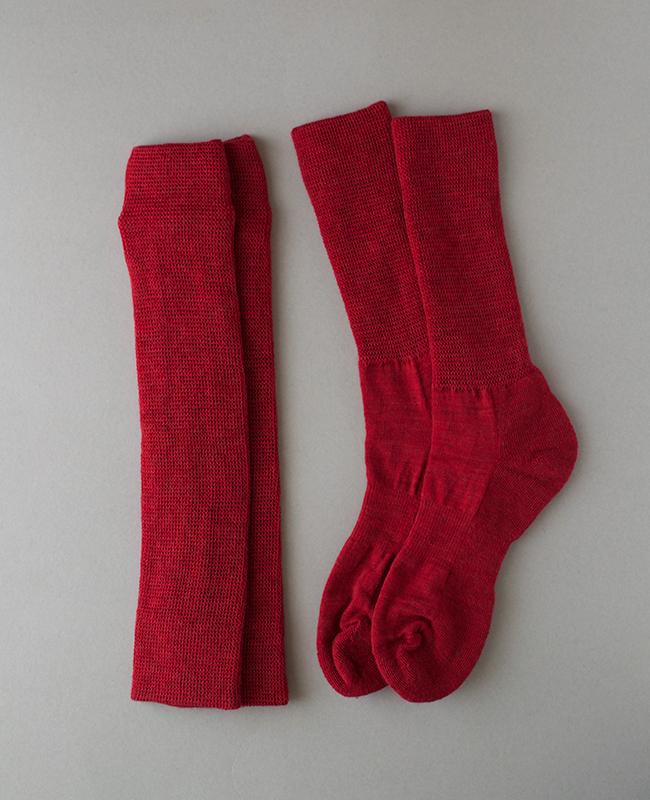 新作 絹ウール二層ウォーマー・靴下