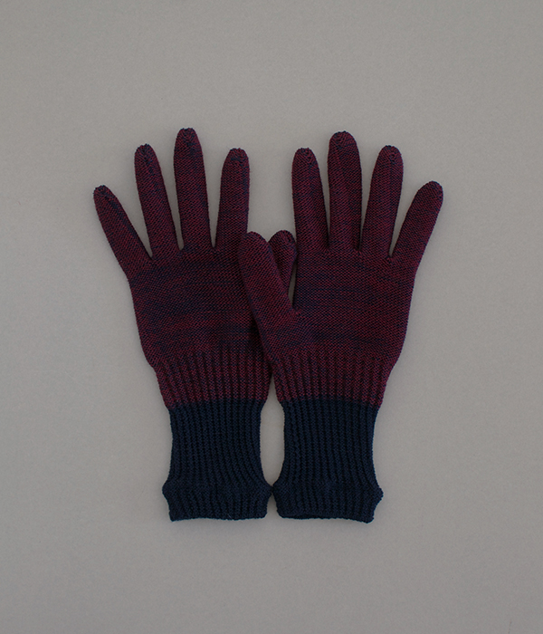 オーガニックコットンとウールの手袋