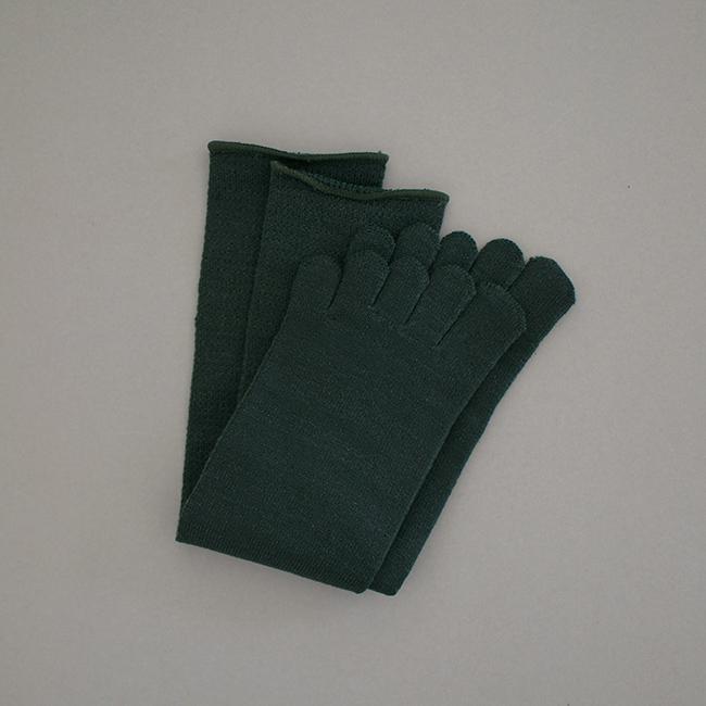 五本指靴下「足の肌着」絹ウール  ロング丈