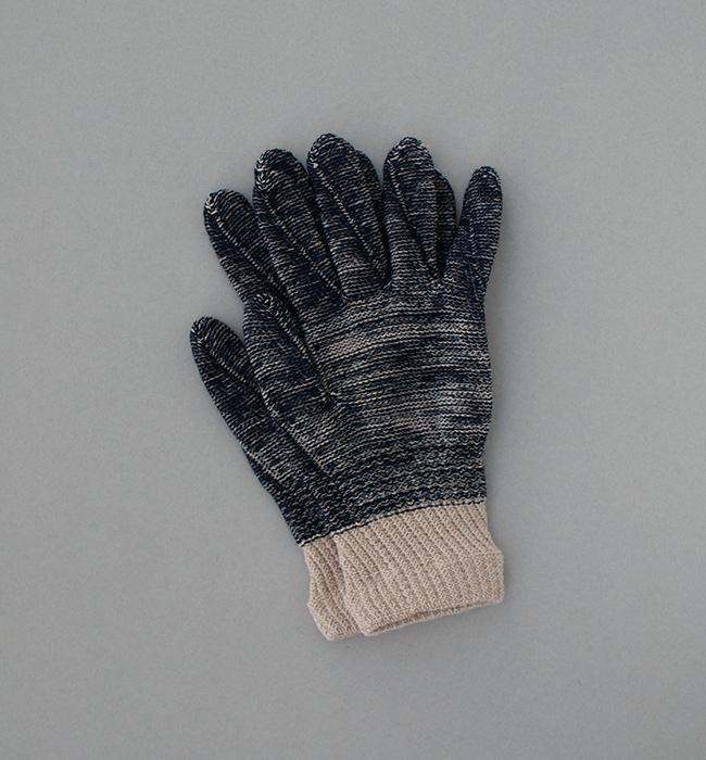 オーガニックコットンとウールの手袋 for Men
