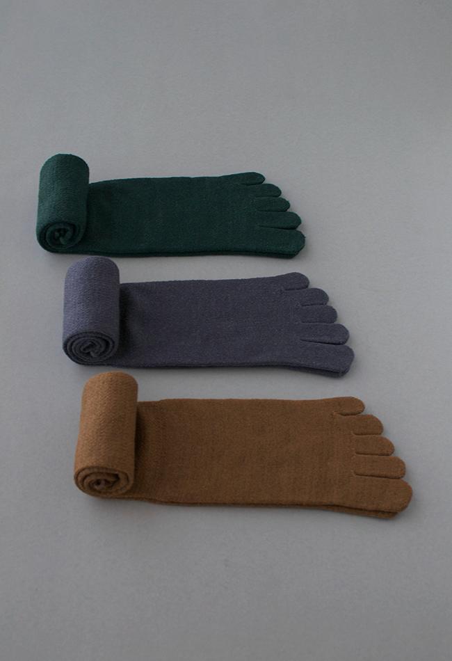五本指「足の肌着」 絹とウール ロング丈