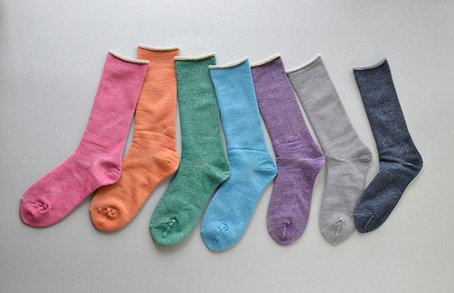 絹綿薄手靴下「素材と色」