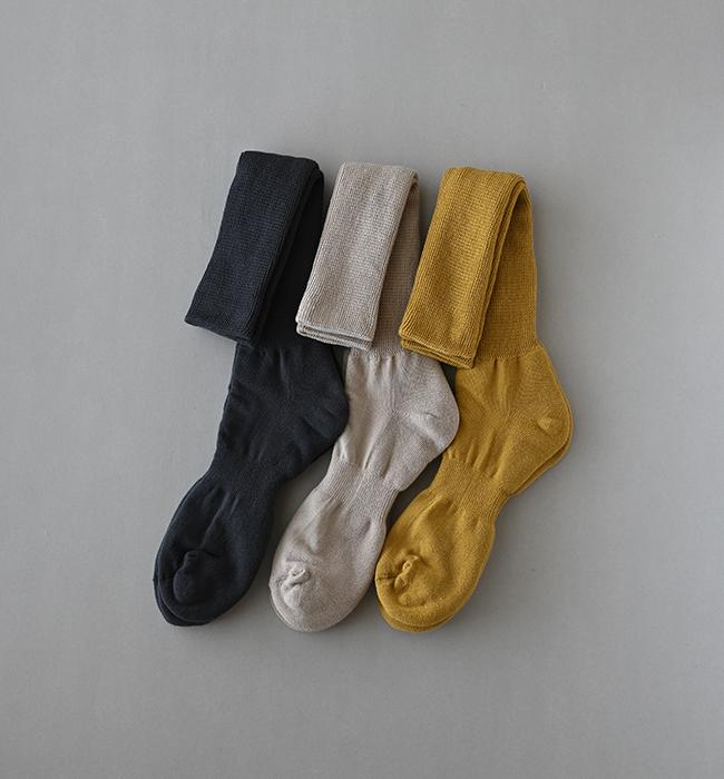 絹綿二層靴下