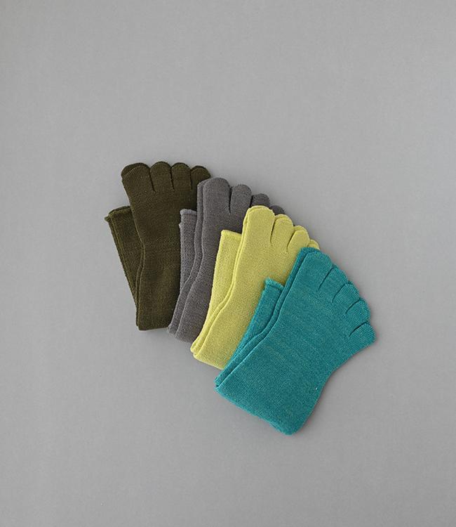 五本指「足の肌着」絹と綿(organic cotton)